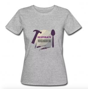 T-Shirt mit Desperate Househackers Logo